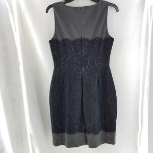 BANANA REPUBLIC Gray Black Lace Dress Sz 10 P